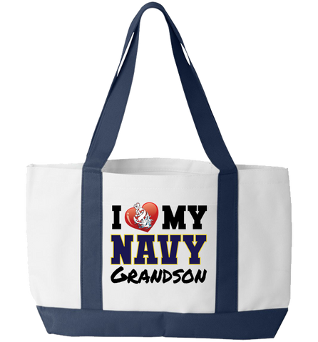 I Love My Navy, Tote Bag, Trexify, FamilyTrophy.com - FamilyTrophy.com