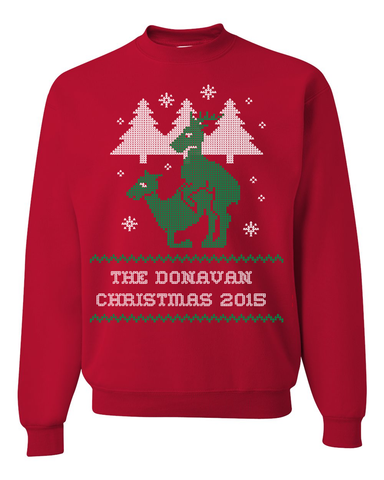 Family Name Personalized Reindeer Fun & Ugly Christmas Sweater For The Holiday Season 2015 - Great Gift For Deer Lovers, Apparel, Trexify, FamilyTrophy.com - FamilyTrophy.com