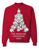 Family Name Personalized Westies Fun & Ugly Christmas Sweater For The Holiday Season 2015 - Great Gift For Westie Dog Lovers, Apparel, Family Trophy, FamilyTrophy.com - FamilyTrophy.com