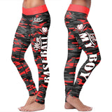 Baseball Mom Camo Leggings, Leggings, Xlusion, FamilyTrophy.com - FamilyTrophy.com