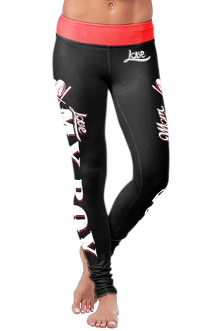 Baseball Mom Classic Leggings, Leggings, Xlusion, FamilyTrophy.com - FamilyTrophy.com