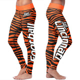 Cincinnati Football Striped Leggings, Leggings, Xlusion, FamilyTrophy.com - FamilyTrophy.com