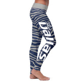 Dallas Football Striped Leggings, Leggings, Xlusion, FamilyTrophy.com - FamilyTrophy.com