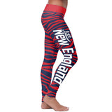New England Football Striped Leggings, Leggings, Xlusion, FamilyTrophy.com - FamilyTrophy.com