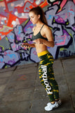 Green Bay Football Camo Leggings, Leggings, Xlusion, FamilyTrophy.com - FamilyTrophy.com
