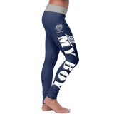 Blue Hockey Mom Leggings, Leggings, Xlusion, FamilyTrophy.com - FamilyTrophy.com