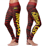 Kansas City Football Striped Leggings, Leggings, Xlusion, FamilyTrophy.com - FamilyTrophy.com
