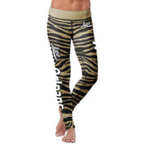 New Orleans Football Striped Leggings, Leggings, Xlusion, FamilyTrophy.com - FamilyTrophy.com