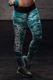 Philadelphia Football Camo Leggings, Leggings, Xlusion, FamilyTrophy.com - FamilyTrophy.com