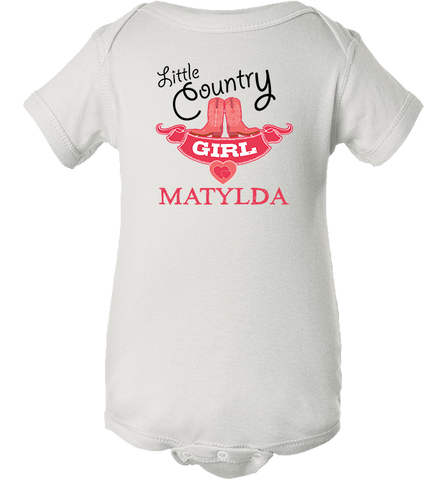 Personalized Country Girl Onesie, Onesie, Trexify, FamilyTrophy.com - FamilyTrophy.com