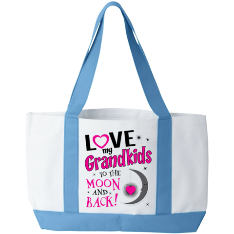 To The Moon And Back Totebag, Tote bag, Trexify, FamilyTrophy.com - FamilyTrophy.com