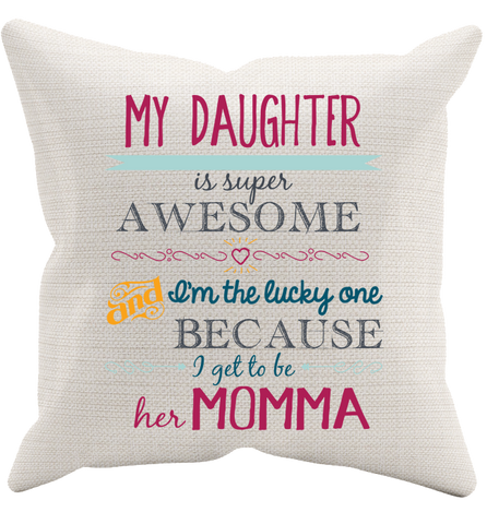 My Daughter Pillowcase, Pillow Case, Trexify, FamilyTrophy.com - FamilyTrophy.com