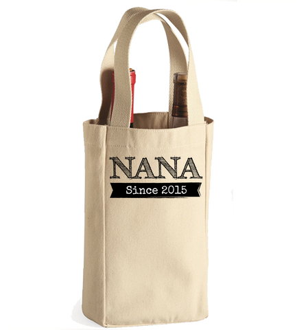 Personalized Nana Winebag, Wine Bag, Trexify, FamilyTrophy.com - FamilyTrophy.com