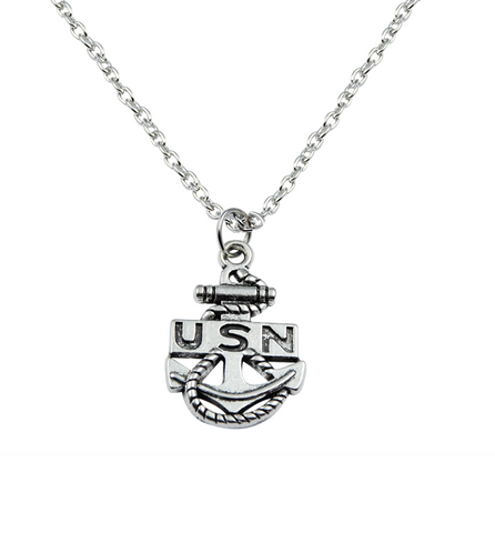 Navy Necklace, Jewelry, Trexify, FamilyTrophy.com - FamilyTrophy.com