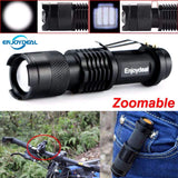 Enjoydeal Mini Flashlight 2000 Lumens CREE Q5 LED AA/14500 Adjustable Zoom Waterproof, , slingly, FamilyTrophy.com - FamilyTrophy.com