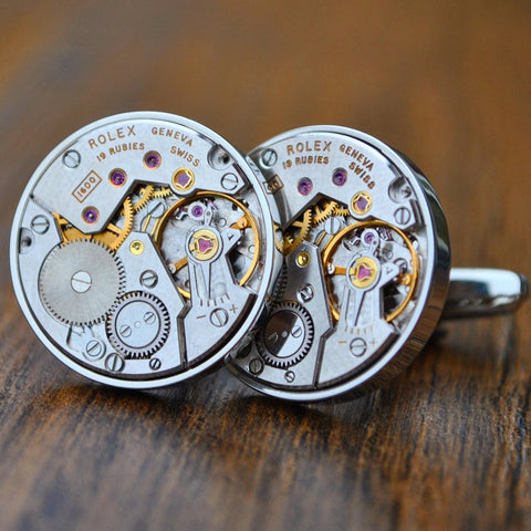 Rolex Watch Movement Cufflinks - Unique Father Day Gift From Wife, Mom, Mother In Law