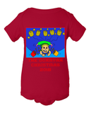 Baby Farty High In The Air Christmas - Personalized Family Name Christmas 2015 - Perfect Comic Christmas 2015 Gift For Babies With Humor Parents - Funny Christmas Fart Onesies For Babies, Onesie, Family Trophy, FamilyTrophy.com - FamilyTrophy.com