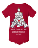 Baby Christmas Westies - Personalized Family Name Christmas 2015 - Perfect Dog Christmas 2015 Gift For Babies - Funny Christmas Westie Onesies For Baby, Onesie, Family Trophy, FamilyTrophy.com - FamilyTrophy.com