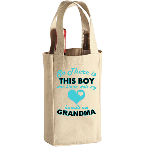 So There's This Boy (2 Bottle Wine Tote), Wine Bag, Trexify, FamilyTrophy.com - FamilyTrophy.com