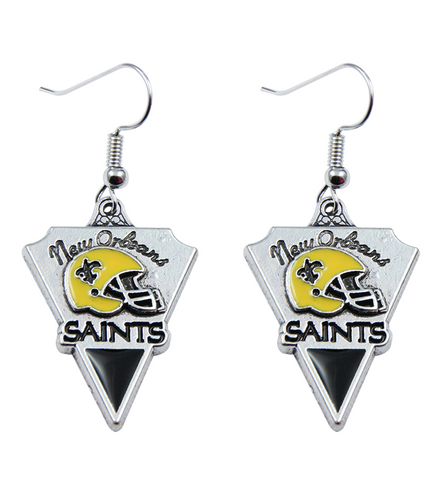 Saints Earrings Perfect Saints New Orleans Fan Gift, Jewelry, Trexify, FamilyTrophy.com - FamilyTrophy.com
