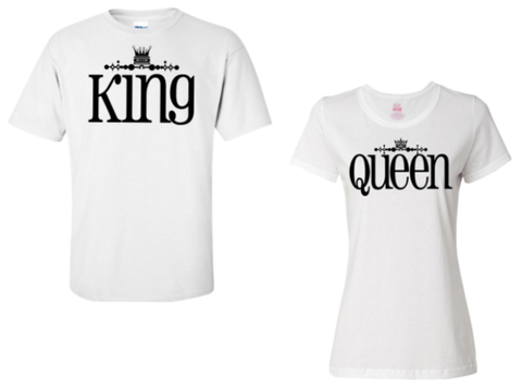 King & Queen Couple Shirt Set - Perfect Gift For Couples, Apparel, Trexify, FamilyTrophy.com - FamilyTrophy.com