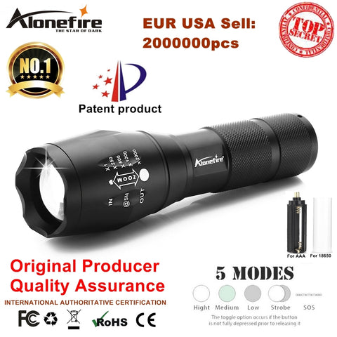 AloneFire XM-L T6 Waterproof LED Flashlight Light For 18650 Rechargeable Battery AAA, , slingly, FamilyTrophy.com - FamilyTrophy.com