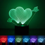Valentines day Gift 3D Lamp LED Night Light 7 Colors Table Lampe Deco Bulb Touch Sensor luminarias fixtures lamparas veilleuse, Night Lights, Sunny Always Online Store, FamilyTrophy.com - FamilyTrophy.com