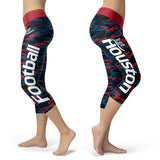 Houston Football Camo Capris, Capris, Xlusion, FamilyTrophy.com - FamilyTrophy.com