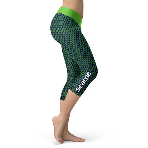 Seattle Honeycomb Football Capris, Capris, Xlusion, FamilyTrophy.com - FamilyTrophy.com