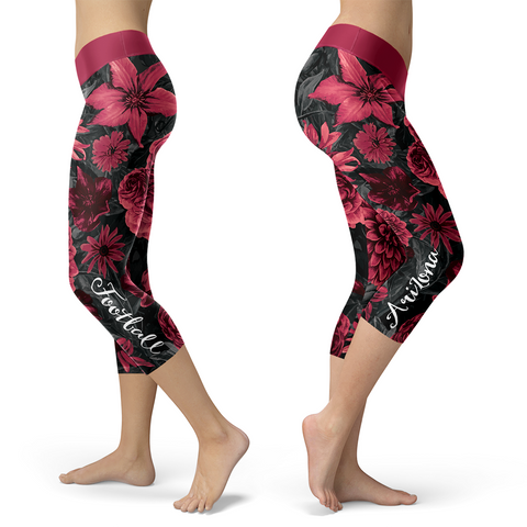 Arizona Flower Football Capris, Capris, Xlusion, FamilyTrophy.com - FamilyTrophy.com