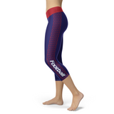 New York Giants Honeycomb Stripe Football Capris, Capris, Xlusion, FamilyTrophy.com - FamilyTrophy.com