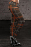 Cleveland Football Plaid Leggings, Leggings, Xlusion, FamilyTrophy.com - FamilyTrophy.com
