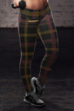 Washington Football Plaid Leggings, Leggings, Xlusion, FamilyTrophy.com - FamilyTrophy.com