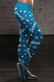 Detroit Lovin Kisses Football Leggings, Leggings, Xlusion, FamilyTrophy.com - FamilyTrophy.com