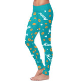 Miami Lovin Kisses Football Leggings, Leggings, Xlusion, FamilyTrophy.com - FamilyTrophy.com