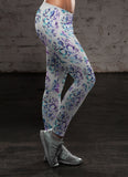 White and Purple Sugar Skulls, Leggings, Xlusion, FamilyTrophy.com - FamilyTrophy.com