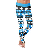 Carolina Ugly Christmas Classic Football Leggings, Leggings, Xlusion, FamilyTrophy.com - FamilyTrophy.com