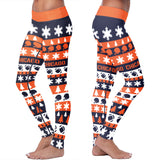 Chicago Ugly Christmas Classic Football Leggings, Leggings, Xlusion, FamilyTrophy.com - FamilyTrophy.com