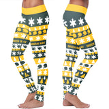Green Bay Ugly Christmas Classic Football Leggings, Leggings, Xlusion, FamilyTrophy.com - FamilyTrophy.com