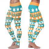 Miami Ugly Christmas Classic Football Leggings, Leggings, Xlusion, FamilyTrophy.com - FamilyTrophy.com