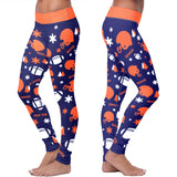Denver Ugly Christmas Random Football Leggings, Leggings, Xlusion, FamilyTrophy.com - FamilyTrophy.com