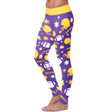 Minnesota Ugly Christmas Random Football Leggings, Leggings, Xlusion, FamilyTrophy.com - FamilyTrophy.com