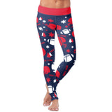 New York Ugly Christmas Random Football Leggings, Leggings, Xlusion, FamilyTrophy.com - FamilyTrophy.com