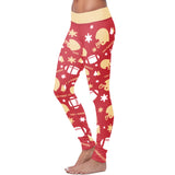 San Francisco Ugly Christmas Random Football Leggings, Leggings, Xlusion, FamilyTrophy.com - FamilyTrophy.com