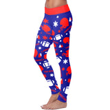 Tennessee Ugly Christmas Random Football Leggings, Leggings, Xlusion, FamilyTrophy.com - FamilyTrophy.com