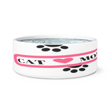 *Attention Cat Moms* Turn your Cat Bowl into a piece of Purrrfect Cat Mom Art, Dog Bowls, teelaunch, FamilyTrophy.com - FamilyTrophy.com