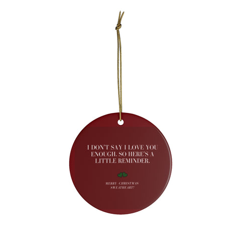 Ceramic Christmas Ornaments For Couples - I Love You Message To Wife From Husband Christmas Ornament Holiday Gift