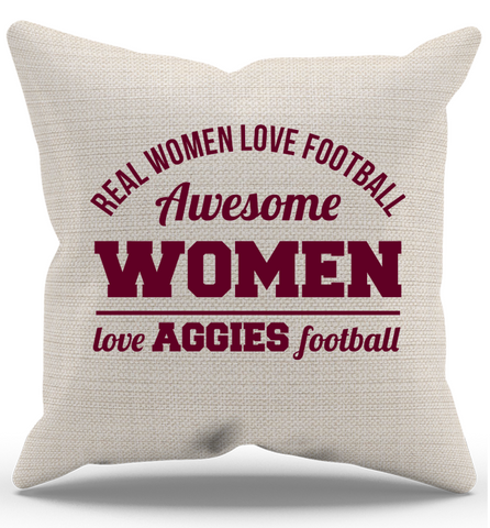 Awesome Aggies Woman Pillow Case, Pillow Case, Trexify, FamilyTrophy.com - FamilyTrophy.com