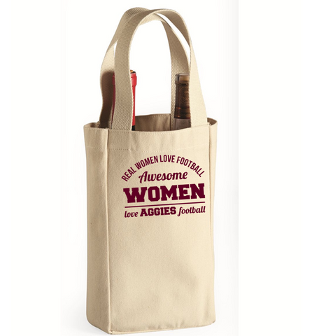 Awesome Aggies Woman Wine Bag, Wine Bag, Trexify, FamilyTrophy.com - FamilyTrophy.com