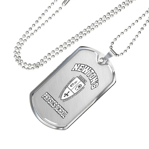 Dogtag Necklace Newton's Physics School - FamilyTrophy.com